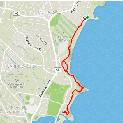 mona vale to north narrabeen